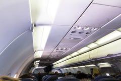 La cabina spaziosa della famiglia di Airbus A320 comprende gli più ampi sedili per la comodità di passeggero ineguagliata Immagine Stock Libera da Diritti