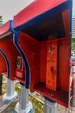 La cabine de téléphone a obtenu le vandalisme Photo libre de droits