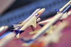 La cabine des avions de présentation du groupe d'aéroport de Changi (CAG) modèle à Singapour Airshow Photographie stock libre de droits