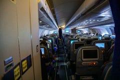 La cabine des avions, la vue de la queue des avions, Airbus photographie stock libre de droits