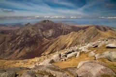 La cabra cayó la visión - isla de Arran, Escocia Fotografía de archivo libre de regalías