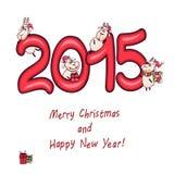 La cabra del Año Nuevo Imagenes de archivo