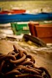 La cadena en el embarcadero Fotografía de archivo libre de regalías