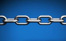 La cadena en el web azul liga concepto Fotografía de archivo libre de regalías