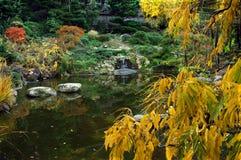 La caduta colora il giardino giapponese Fotografie Stock