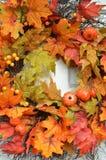 La caduta colora l'uso del testo della carta da parati di Autumn Leaves Background Thanksgiving Season fotografia stock