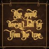 La caduta del ` t del doesn della mela lontano dall'albero Fotografia Stock Libera da Diritti