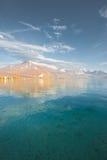La caduta delle alpi di Annecy del lago colora la V Immagini Stock