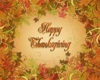 La caduta di autunno di ringraziamento lascia il bordo Fotografia Stock Libera da Diritti