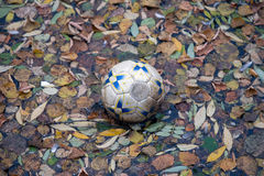 La caduta di calcio Fotografie Stock Libere da Diritti
