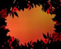 La caduta di ringraziamento lascia il blocco per grafici Fotografia Stock Libera da Diritti