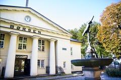 La caduta norvegese di borsa valori di 2009 Fotografie Stock