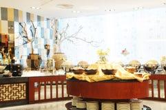 La cafetería del hotel de lujo Foto de archivo