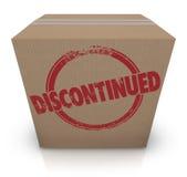La caja de cartón interrumpida anuló la acción del producto - de - ilustración del vector