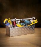 La caja de herramientas filetea el juego de herramientas foto de archivo libre de regalías