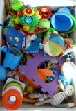 La caja de juguetes del bebé Foto de archivo libre de regalías