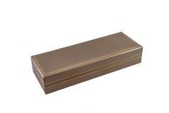 La caja de la pluma para da de aislado Fotografía de archivo