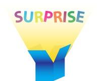 La caja de la sorpresa ilustración del vector