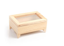 La caja de madera adornó la casa Fotografía de archivo