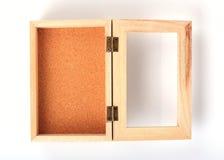 La caja de madera adornó la casa Imágenes de archivo libres de regalías
