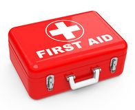 La caja de primeros auxilios Imágenes de archivo libres de regalías