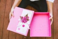 La caja de regalo Fotos de archivo libres de regalías