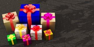 La caja de regalo de las celebridades stock de ilustración