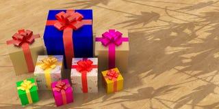 La caja de regalo de las celebridades ilustración del vector