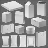La caja de la tienda de papel de la cartulina y vacia la plantilla del paquete para su vector corporativo de la identidad de la c ilustración del vector