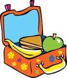 La caja del almuerzo de un niño Fotografía de archivo libre de regalías