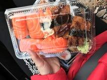 La caja del sushi Foto de archivo libre de regalías