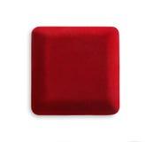La caja roja de la joyería se cerró, aislado en el fondo blanco Fotografía de archivo libre de regalías