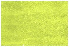 La cal perfora la acuarela verde amarilla del grunge pint? la lona texturizada papel para el dise?o del vintage, tarjeta de la in imagen de archivo libre de regalías