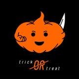 La calabaza de Halloween del ejemplo ilustración del vector