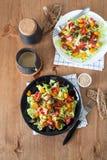 La calabaza y la carne de vaca de la carne asada de la ensalada de las verduras frescas Imagenes de archivo