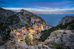 La calanque DE La Vesse dichtbij Marseille, Frankrijk Stock Afbeelding