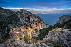 La calanque de la Vesse near Marseille, France stock image