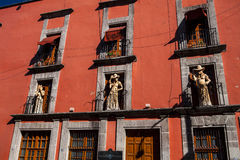 La Calavera Catrina Skeleton, balkong Mexiko Royaltyfria Bilder