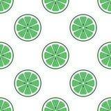 La calce luminosa di vettore affetta il fondo senza cuciture Illustrazione piana organica verde royalty illustrazione gratis