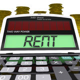 La calculadora del alquiler significa pagos al propietario Or Property Manager Imágenes de archivo libres de regalías