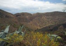 La Caldera de Bandama. Volcanic caldera on Gran Canaria, part of Tafira protected landscape stock images