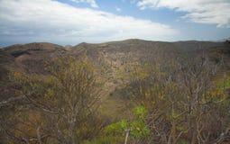 La Caldera de Bandama. Volcanic caldera on Gran Canaria, part of Tafira protected landscape stock photos