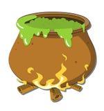 La caldera de la bruja Imagen de archivo