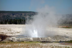 La caldera hermosa en el parque nacional de yellowstone Foto de archivo libre de regalías
