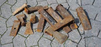 La cale rouillée usine la bannière Image libre de droits