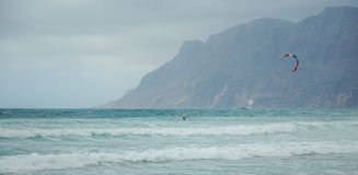 La Caleta海滩冲浪 图库摄影