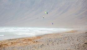 La Caleta海滩冲浪 库存照片