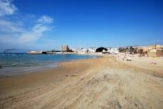 La Caleta beach, Cadiz. Royalty Free Stock Photo