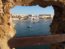 La Caleta beach in Cadiz Royalty Free Stock Photos