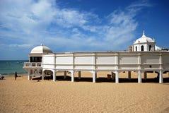 La Caleta beach pier, Cadiz. Royalty Free Stock Images